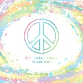 Colorido evento internacional del día de la paz