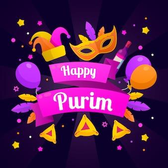 Colorido feliz día de purim