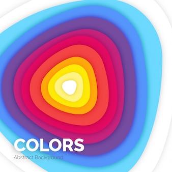 Colorido fondo abstracto en estilo de corte de papel