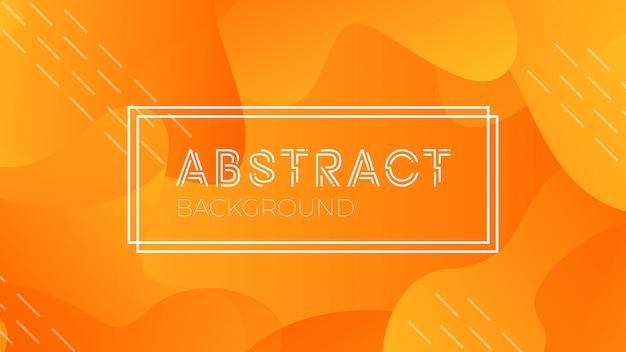 Colorido fondo abstracto geométrico naranja. composición moderna de formas fluidas