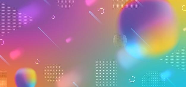 Colorido fondo degradado con fluido abstracto dinámico