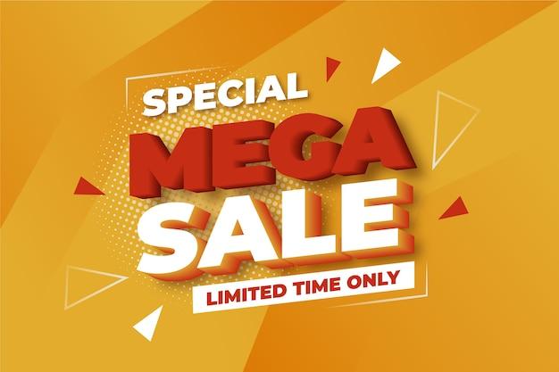 Colorido fondo de mega ventas 3d
