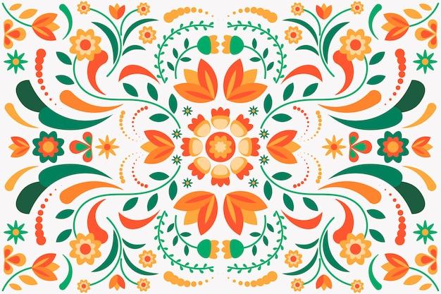 Colorido fondo mexicano con muchos detalles
