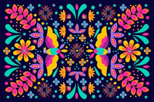 Colorido fondo mexicano