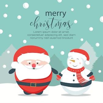 Colorido fondo navideño con diseño plano.