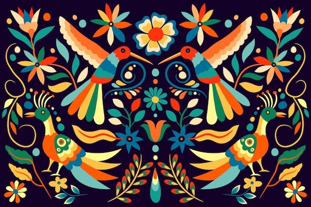 Colorido fondo plano mexicano
