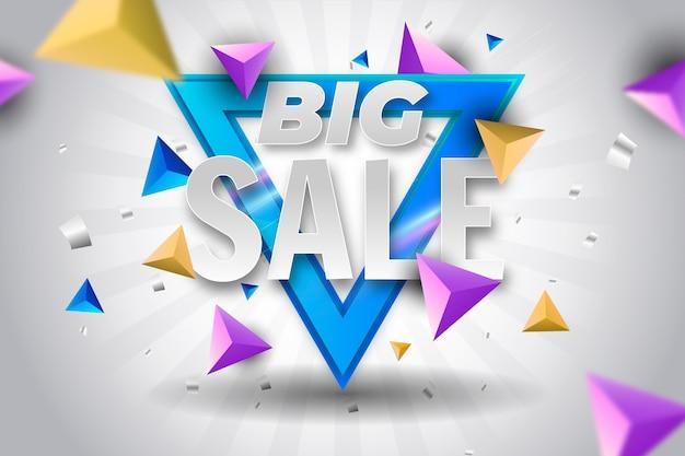 Colorido fondo de ventas 3d