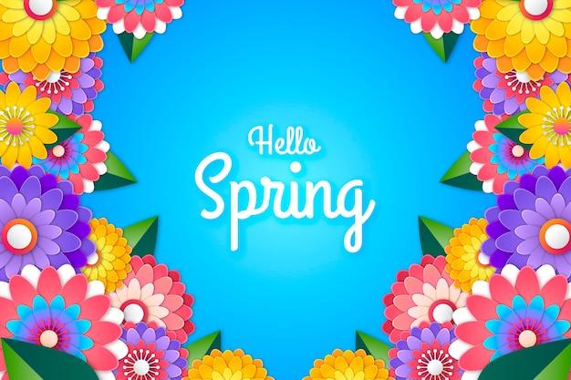 Colorido hola primavera fondo de pantalla