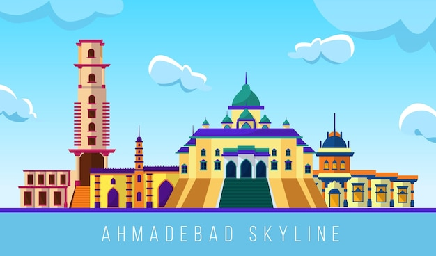Colorido horizonte de ahmedabad