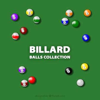 Colorido juego de bolas de billar vector