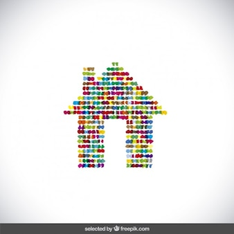 Colorido logotipo de la casa de puntos