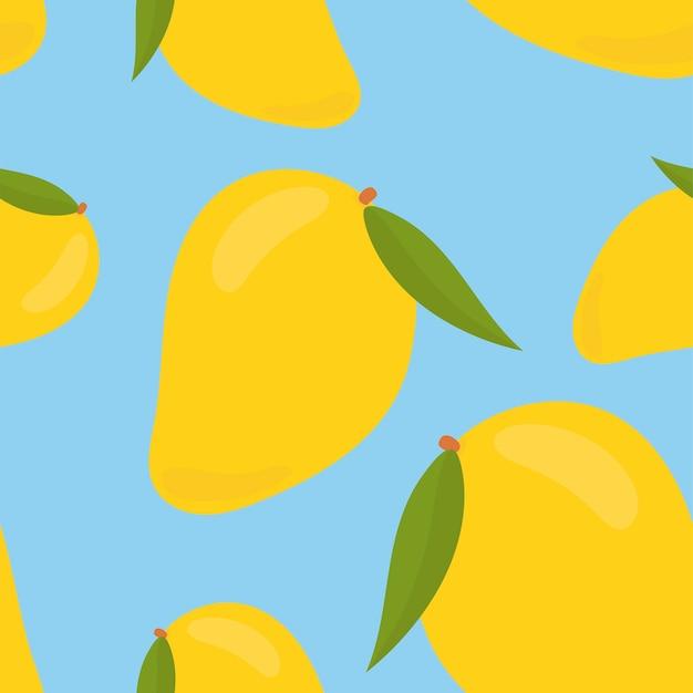 Colorido mano dibujada patrón de mango