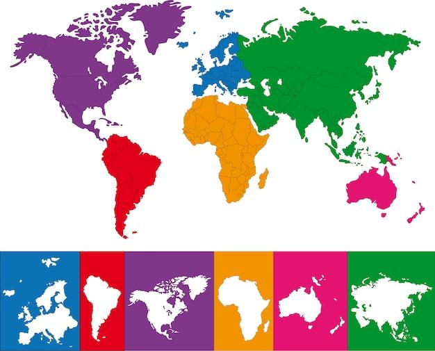 Colorido mapa del mundo