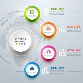 Colorido negocio infografía y diagrama