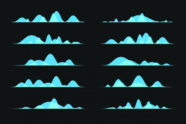 Colorido onda de audio transparente o onda de sonido.