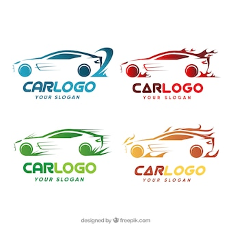 Colorido pack de logotipos de coche