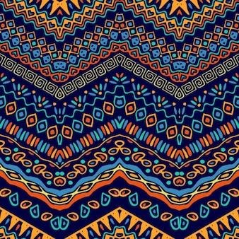 Colorido patrón con elementos étnicos