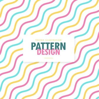 Colorido patrón con líneas onduladas