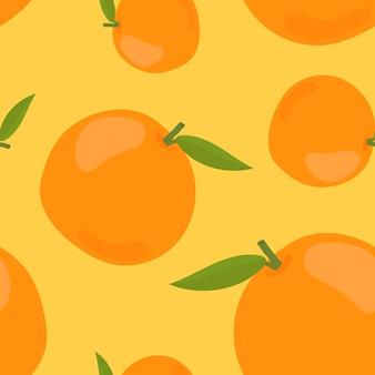 Colorido patrón naranja dibujado a mano