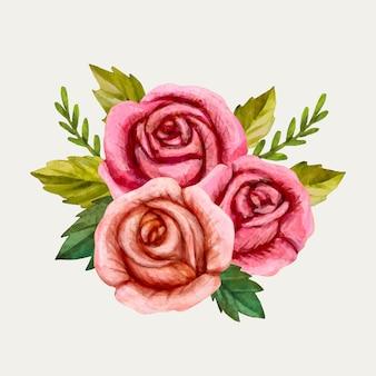 Colorido ramo floral vintage