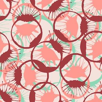 Colorido tinta salpica textura transparente. patrón de la moda del vector