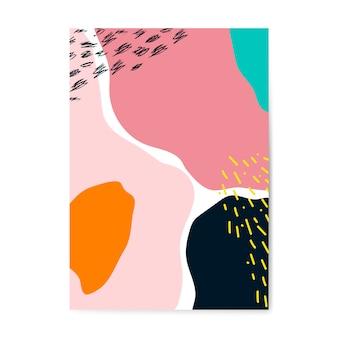 Colorido vector de cartel de estilo de memphis