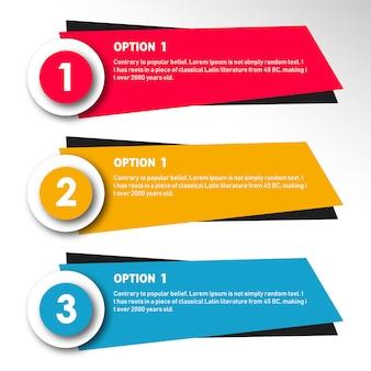 Colorido vector infografía diseños