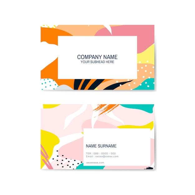 Colorido vector de tarjetas de patrón de memphis