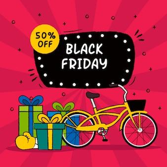 Colorido viernes negro dibujado a mano