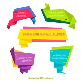 Coloridos banners de papel