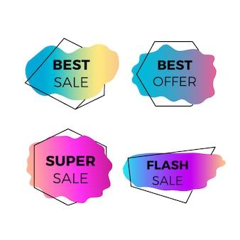 Coloridos carteles de venta