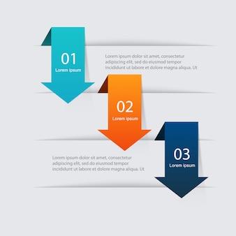 Coloridos gráficos de información para sus presentaciones de negocios.