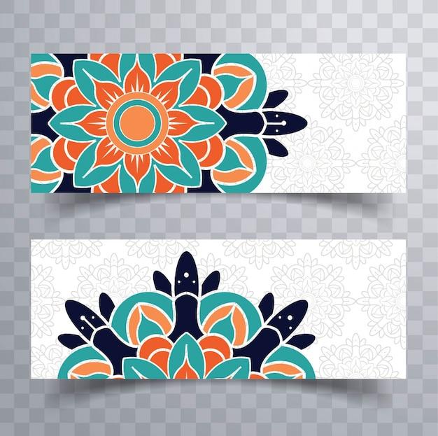 Coloridos mandala banners