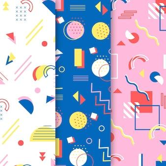 Coloridos ochenta memphis de patrones sin fisuras