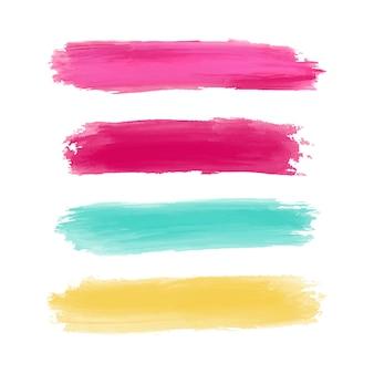 Coloridos trazos de pincel de acuarela