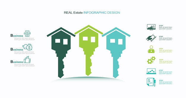 Columna arquitectónica de bienes raíces infografía stock ilustración casa infografía bienes raíces