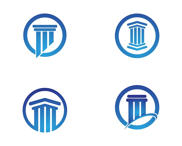 Columna plantilla de logotipo