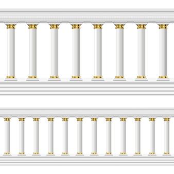 Columnas antiguas aisladas