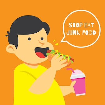 Coma saludable, haga deporte para la serie de diseño de carteles de niños de salud