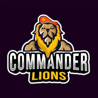 Comandante lions esport logotipo