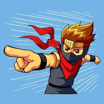 Comando de ataque ninja boy.