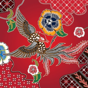 Combinación de batik indonesio