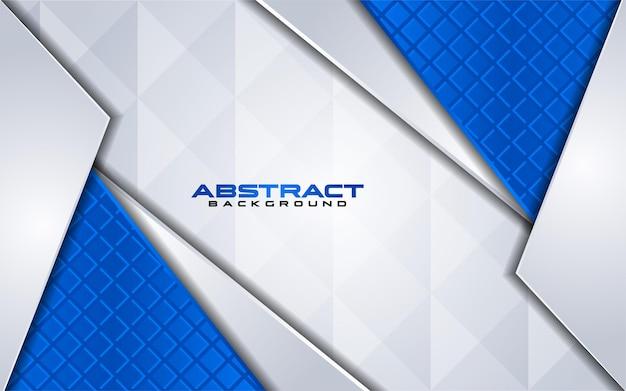 Combinaciones de fondo blanco de lujo con línea azul elemento con superposición texturizada