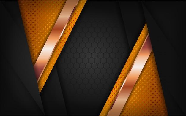 Combinaciones de negro y oro de diseño de fondo de lujo.