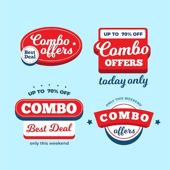 Combo ofrece colección de etiquetas