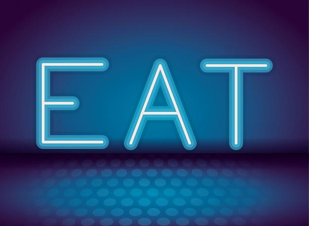 Comer publicidad de neón