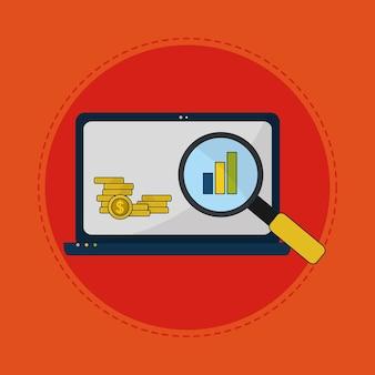 Comercio de divisas en línea desde la computadora