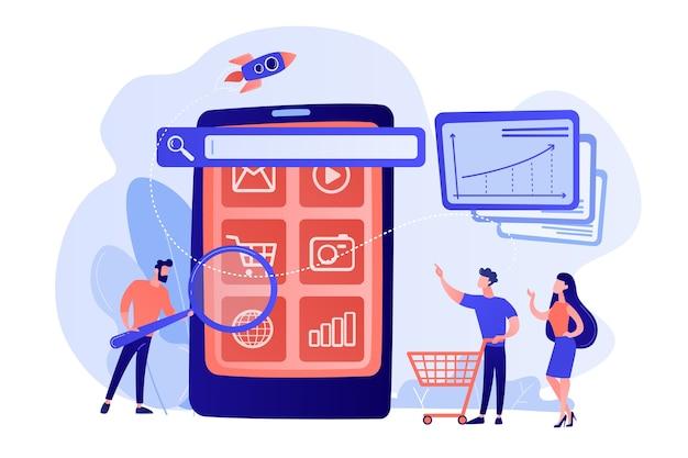Comercio electrónico, campaña de promoción de compras por internet.