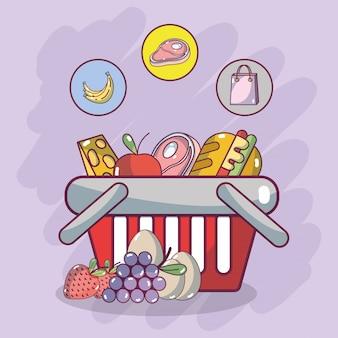 Comestibles y comida sana.