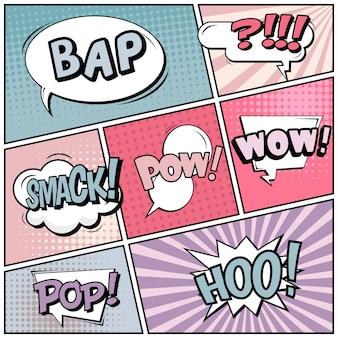 Comic pop art style blank